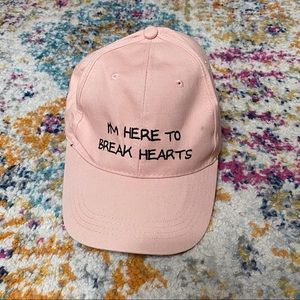 Forever 21 Daddy Cap In pink